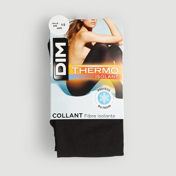 Collant chaud thermo isolant, noir, dim Dim