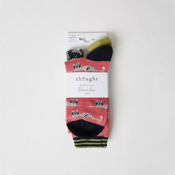 Lot x2 chaussettes chats Thought