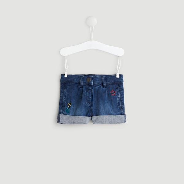 Short denim brodé Boutchou
