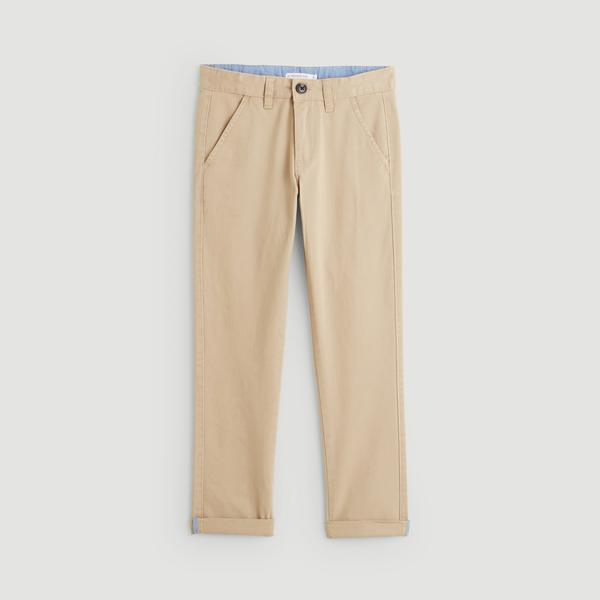 Pantalon twill coupe slim Monoprix Kids