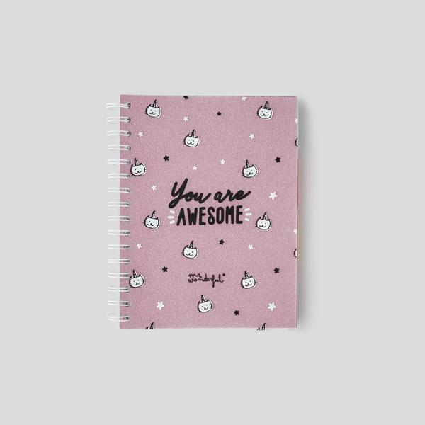 Carnet a5 you are awesome Mr Wonderful